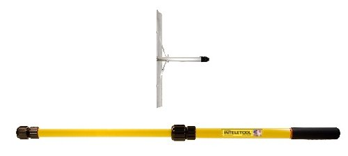 Inteletool Telescopic 8 to 16 foot Snow Removal Roof Rake 2 to 4 foot by Inteletool