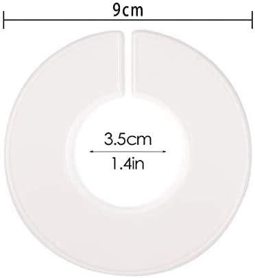 Lot de 10 s/éparateurs ronds de tailles de v/êtements par QUUPY