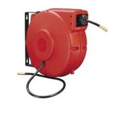 Workforce Retractable Enclosed Plastic Air Hose Reel, 3/8 in. x 50 ft, PVC, L8250