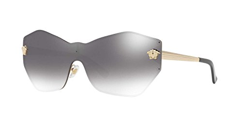 Versace Womens Sunglasses Gold/Silver Metal - Non-Polarized - 43mm by Versace