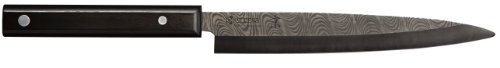 Kyocera Advanced Ceramic Kyotop Damascus 8.25 inch Sashimi Knife with Pakka Wood Handle, Black - Traditional Wood 200