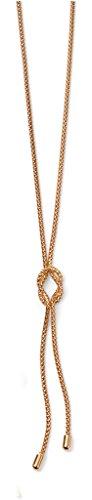Jewellery World Bague en or jaune 9carats Nœud Corde Collier Lariat