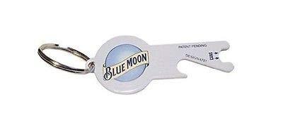 Blue Moon Keychain Dual Function Bottle Opener