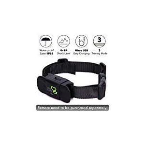 Dog Training Collar Receiver – Dogcare Rechargeable Shock Collar Receiver, 100% Waterproof Training Collar with Adjustable Collar Dog (10lbs-100lbs)