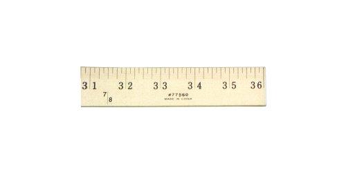 Yardstick Ruler (Charles Leonard Wooden Yardstick Ruler, Inches and 1/8 Yard Measurements, Natural Wood, 36 Inches (77560))