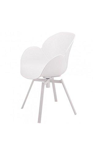 La Chaise Longue – Lot de 4 Sessel Design Weißszlig; und Metall Cocoon
