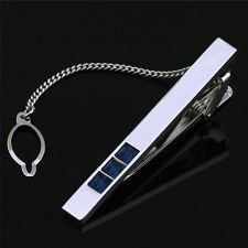 jacob alex #40370 The Gift Stainless Steel Singapore Crystal Tie Clasp Clip Bar Free Gift - Apparel Sports Singapore