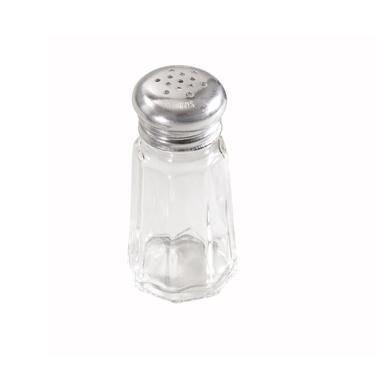Winco G-105 1-Oz Paneled Glass Shaker W/ Mushroom Top - Salt & Pepper Shakers-G-105 - Glass Shaker Mushroom