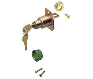 Knape & Vogt BX1062-US3 Pocket Door Lock, Brass, Keyed Different