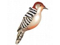(Red-Bellied Woodpecker Glass Ornament)
