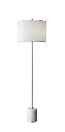 """Adesso 5281-02 Blythe 62"""" Floor Lamp, White, Smart Outlet Compatible"""