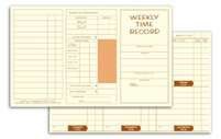 Weekly Overtime Time Cards - EGP Weekly Time Record, 250 Time Cards