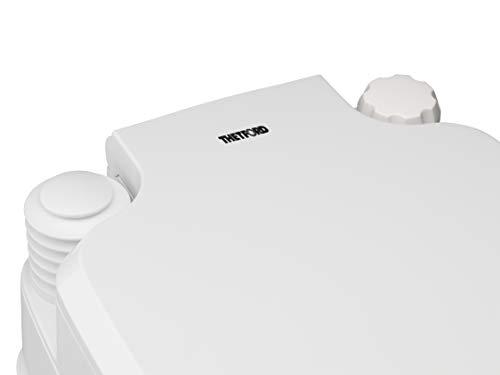 21uuNtasWfL Thetford 92802 Porta Potti 145 Tragbare Toilette Qube, Weiß-Grau, 330 x 383 x 427 mm