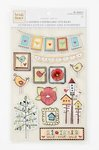Colorbok - Heidi Grace Designs - Tweet Memories Collection - Layered Chipboard Stickers with Epoxy Accents (Epoxy Chipboard)