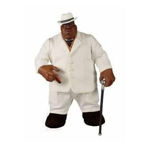 Mezco Toyz Rap Stars Action Figure Notorious BIG (Biggie Smalls) in White Suit by Music