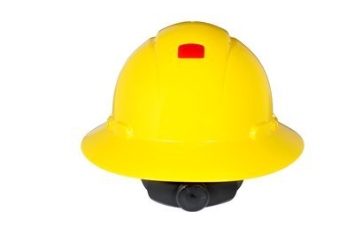 3M (H-802V-UV) Full Brim Hard Hat H-802V-UV, Yellow 4-Point Ratchet Suspension, Vented,with Uvicator [You are purchasing the Min order quantity which is 1 Case] by 3M (Image #1)