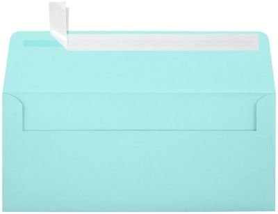 (#10 Square Flap Envelopes w/Peel & Press (4 1/8 x 9 1/2) - Seafoam Blue (250 Qty.) | Business | for Checks, Invoices, Letters & Mailings | Printable | 80lb Text Paper | LUX-4860-113-250)