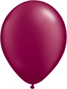 """Single Source Party Supplies - Round 11"""" Radiant Pearl Burgundy Latex Balloons - Bag of 10"""