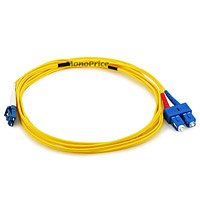 Monoprice Fiber Optic Cable, LC/SC, Single Mode, Duplex - 3 meter (9/125 Type) - Yellow ()