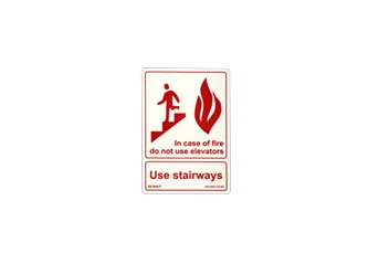 Photoluminescent Fire Safety ''Use Stairways (In Case of Fire)'' Sign ESW-F-115-RP