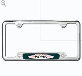 "Mini Cooper License Plate Frame - ""John Cooper Works"" / Polished"