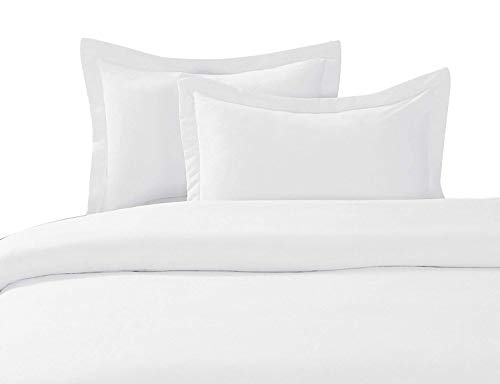 Linentown 600-Thread-Count Egyptian Cotton Duvet Cover Set - Full/Queen, White Solid
