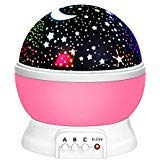 Toys for 3-12Toys for 3-12 Year Old Boys, Rainmin Night Light Moon Star 360° Rotation Best Gifts...