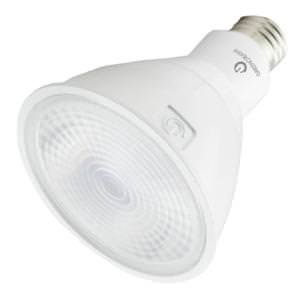 Dimmable LED 12.5W PAR30 Long Neck 1850 Candlepower 40 Deg. Flood 3000K Halogen White Green Creative 16116