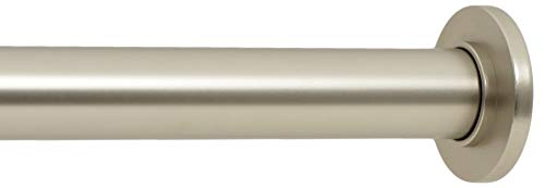 Ivilon Tension Curtain Rod - Spring Tension Rod for Windows or Shower, 24 to 36 Inch. Satin Nickel