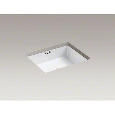 Kohler K-2330-47 Vitreous china undermount Rectangular Bathroom Sink, 19.75 x 15.625 x 6.75 inches, Almond