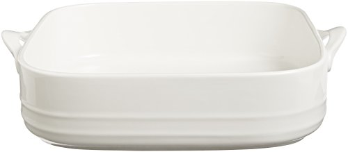 Maxwell and Williams Basics Oven Chef Square Baker, 10.5 by 11-Inch, White