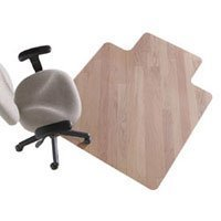 478518 Part# 478518 Hardwd Floor Chair Mat WideLip 45x53 Clear Ea from Office Depot