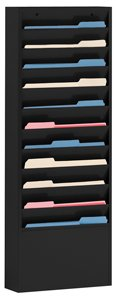 Durham 405-08, Black 11 Large Pocket Literature Rack, 13.25