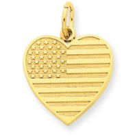 Gold American Flag Charm - 2