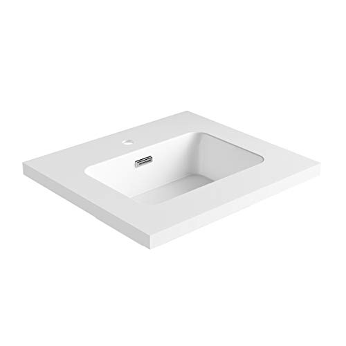 Dyconn Faucet True Solid Surface Single-Bowl Vanity Top (24