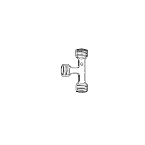 ACE GLASS 7495-27 Air Sampling Tee with Top Threaded, 25 mm OD by ACE Glass