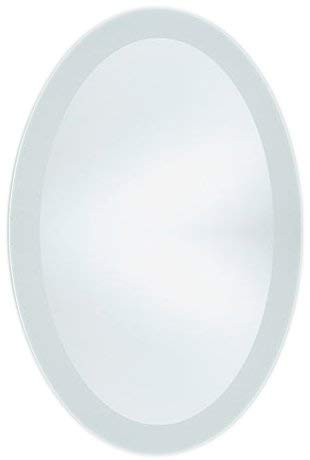ng Frosted Border Oval Wall Mirror (20