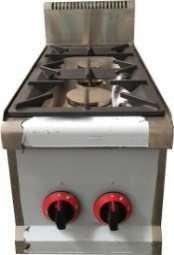 cocina a gas industrial con 2 fuegos vertical: Amazon.es ...