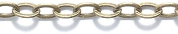 Shipwreck Beads Electroplated Brass Cable Chain, 4mm, Metallic, Antique Brass, 3-Feet, Unfinished