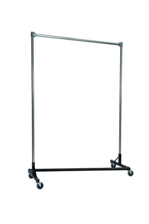 Quality Fabricators Heavy Duty Garment Z-Rack : Single Rail - 5' Base x 7' Up... by Quality Fabricators