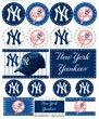 WinCraft MLB New York Yankees Vinyl Sticker Sheet, 5