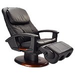 HT-135 Human Touch Leather Massage Chair Recliner - Robotic Human Touch Robotic Lounger with Memory Foam Black