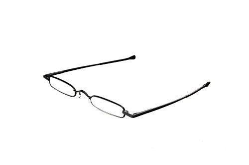 Hot Optix Adjustable Unisex Pocket-size Pen Reader with Case Black Black 2 +2.00power