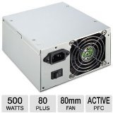 Cougar 500 Watt ATX12V Dual 8cm Fan Power Supply DX500