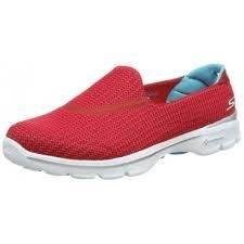 Women's GOwalk 3 Walking Shoe Red/Blue 8.5 by Skechers