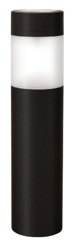 Paradise GL23758BK10 Plastic Solar Bollard Light with White LED, 10-Pack, Black