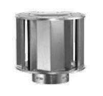 Aluminum High-Wind Cap - 10 inch