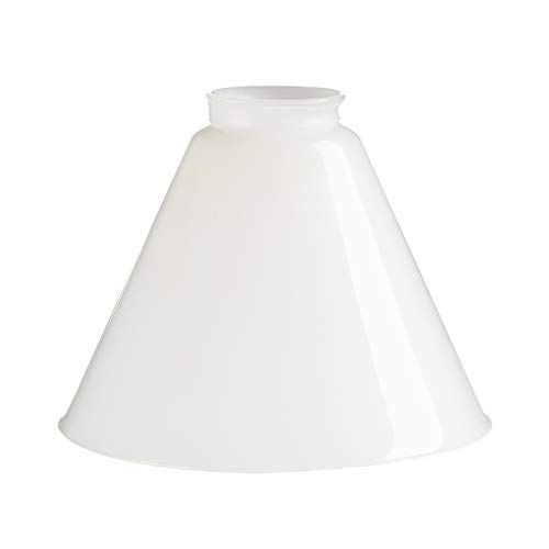 - Permo Lighting Fixture Replacement Funnel Flared Milk Glass Shade