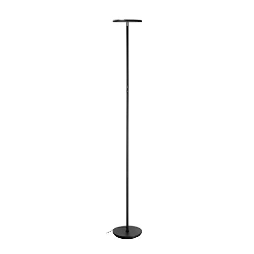 Led Torchiere Floor Lamp Vacnite 3500 Lumens Stepless Dimming Touch Memory 36 Watt Led