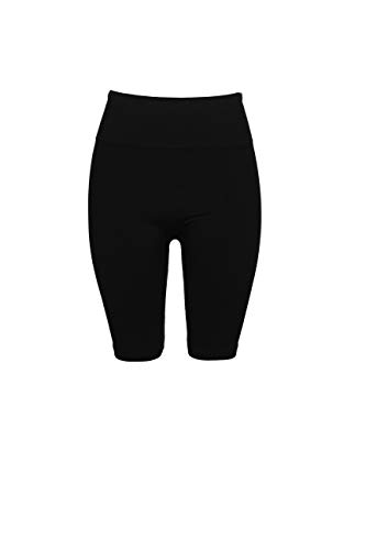- Crush Womens High Waist Seamless Mid Thigh Leggings Pants 2X 3X Large Black